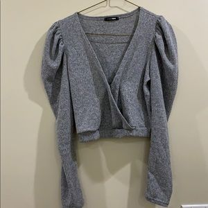 Fashion nova sweater puff sleeve